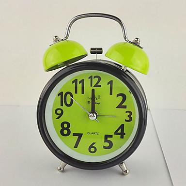 (Tilfældig farve) 3 tommer udsøgt mode gave vækkeur klokke mute bevægelse med nat-lys