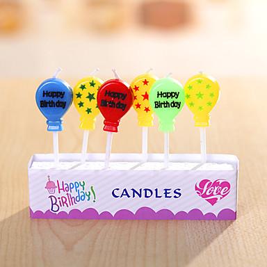 party dekoration fødselsdag stearinlys sæt (5 stykker) glade fødselsdag små tegneserie stearinlys