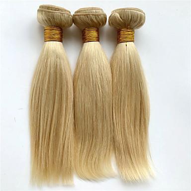 Human Hair vævninger Brasiliansk hår Lige 6 måneder 3 Dele hår vævninger