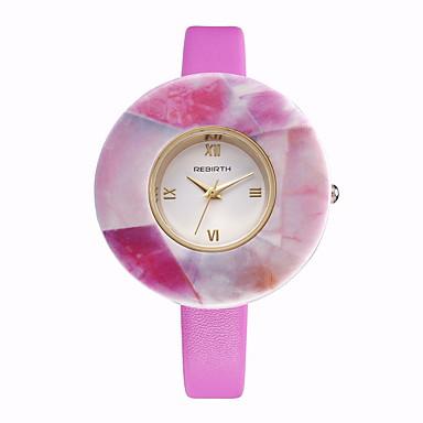 REBIRTH Damen Armbanduhr Modeuhr Quartz / Schlussverkauf PU Band Freizeit Elegant Weiß Blau Rosa Lila Beige Rose