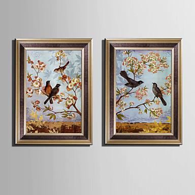 Ingelijst canvas Ingelijste set Dieren Muurkunst, PVC Materiaal Met frame Huisdecoratie Ingelijste kunst Woonkamer Slaapkamer Keuken