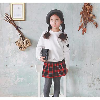 Casual/Dagelijks Geruit Polyester Herfst Lange mouw Meisjes-Rok