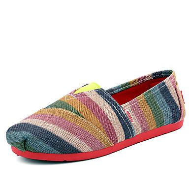 Dames Loafers & Slip-Ons Zomer Comfortabel Canvas Casual Platte hak Groen