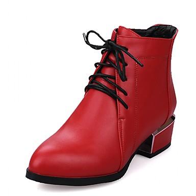 Feminino-Saltos-Plataforma Inovador Botas de Cowboy Botas de Neve Botas Montaria Botas da Moda-Salto Grosso Plataforma Salto de bloco--