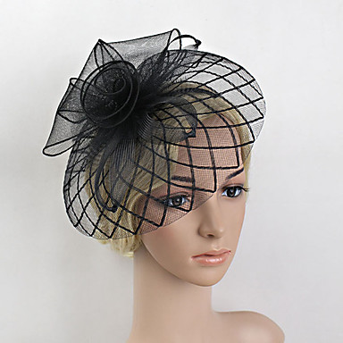 Veer Net fascinators Hoofddeksels with Bloemen 1pc Bruiloft Speciale gelegenheden Helm