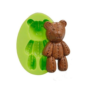 Bébé ours en peluche silicone moules fondant gâteau décoration outils couleur aléatoire