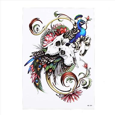 Tatoveringsklistermærker Dyre Serier Ikke Giftig Mønster Nederste del af ryggen VandtætDame Herre Voksen Flash tatoveringMidlertidige