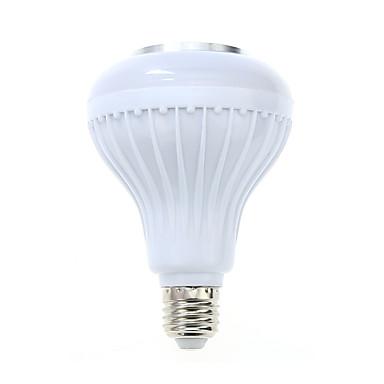 1pcs e27 levou rgb cor bulbo luz bluetooth controle inteligente música áudio alto-falante lâmpadas (ac85-265v)