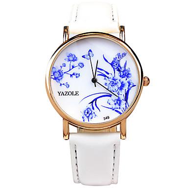 Mulheres Relógio de Pulso Relógio de Moda Quartzo / PU Banda Casual Legal Preta Branco Vermelho