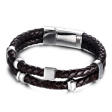Armbanden Wikkelarmbanden Legering / Leder Cirkelvorm Modieus Verjaardag / Feest / Dagelijks / Causaal / Sport Sieraden Geschenk Zwart,1