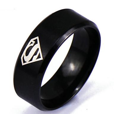 voordelige Heren Ring-Heren Bandring Punk Rock Modieuze ringen Sieraden Zwart Voor Dagelijks Causaal 6 / 7 / 8 / 9 / 10