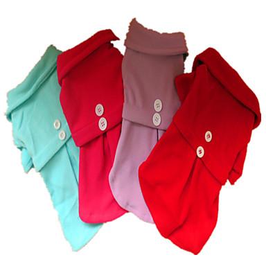 Hund Kleider Hundekleidung Solide Purpur Rose Rot Hellblau Polar-Fleece Kostüm Für Haustiere Herrn Damen Lässig/Alltäglich Modisch