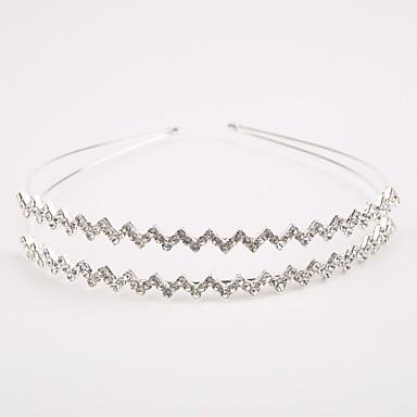 cristal de latão imitação perl rhinestone tiaras headpiece estilo elegante