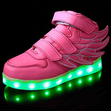 Sneakers-PUDrenge-Sort Rosa Blå-Udendørs Fritid-Flad hæl