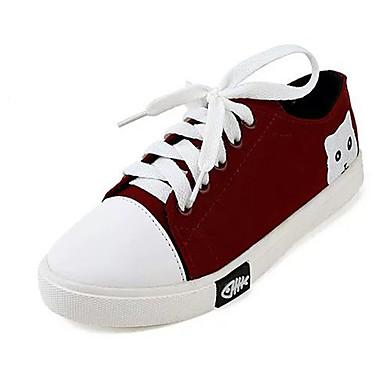 Sneakers-Kanvas-Komfort-Dame-Sort / Rød / Hvid-Udendørs / Sport-Flad hæl