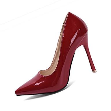 Dames Hoge hakken PU Zomer Causaal Stilettohak Wit Grijs Bordeaux 7,5 - 9,5 cm