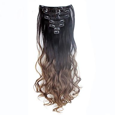 billige Syntetisk hairextension-Klipp På syntetisk Hårforlengelse 130 Hår extension