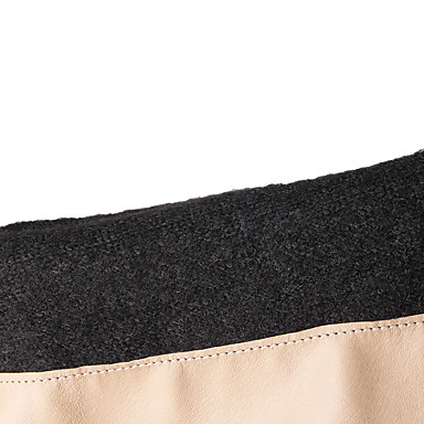 Støvler-Kunstlæder-Modestøvler-Dame-Sort / Hvid / Beige-Kontor / Hverdag-Stilethæl