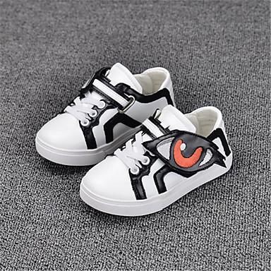 Jongens Schoenen PU Herfst Sneakers Wandelen Voor Causaal zwart/wit