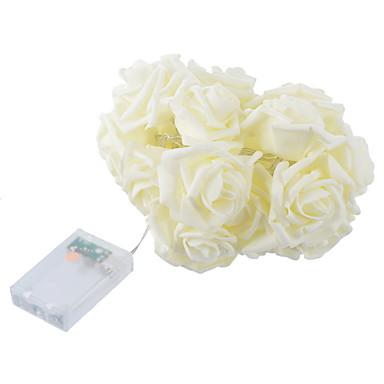 1pc 23 * 16cm mode ferie belysning rose blomst string lys fairy bryllupsfest juledekoration