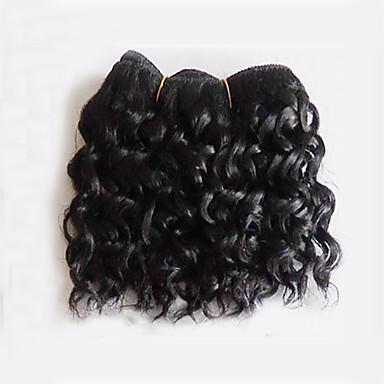 1 paquete Cabello Brasileño Rizado / Ondulado Medio Cabello Virgen Tejidos Humanos Cabello Cabello humano teje Extensiones de cabello humano
