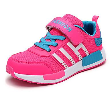 Meisjes Platte schoenen Herfst Ronde neus PU Buiten Platte hak Veters / Overige / Haak & Lus Zwart / Blauw / Rood / Marine Blauw Others
