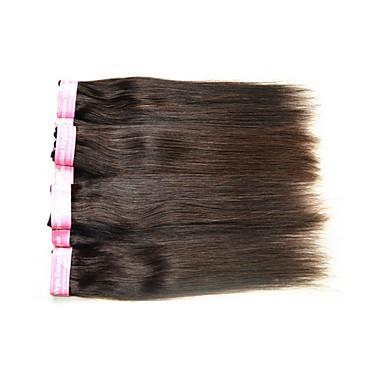 Echt haar Braziliaans haar Menselijk haar weeft Recht Haarextensions 1 Stuk Zwart