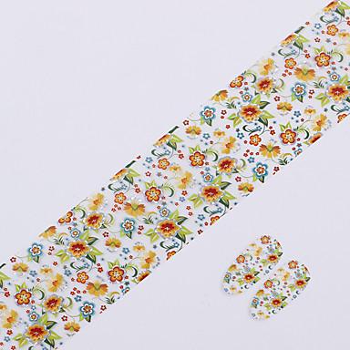 1pcs 3D Negle Stickers Negle Smykker Neglekunst Manikyr pedikyr Blomst / Mote Daglig / PVC / Nail Smykker / 3D Nail Stickers