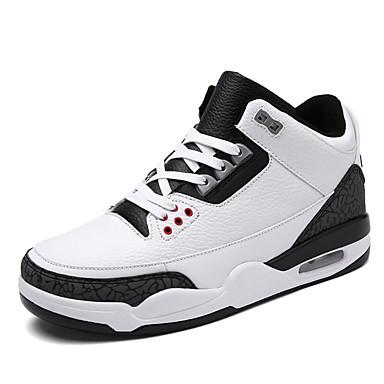 Hombre Cuero Sintético Primavera / Otoño Confort Zapatillas de deporte Baloncesto Antideslizante Negro / Azul / Negro / blanco