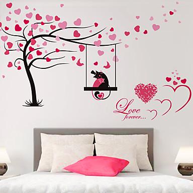 Floral Árvores/Folhas Art Deco Decoração para casa Moderna Revestimento de paredes , PVC/Vinil Material adesivo necessário Mural ,