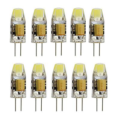 10pcs 2W 350lm G4 LED-lamper med G-sokkel T 1 LED perler Høyeffekts-LED Dekorativ Varm hvit Kjølig hvit 12V