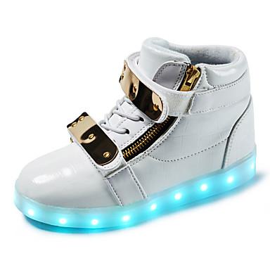 Jongens Schoenen Synthetisch Lente Herfst Oplichtende schoenen Modieuze laarzen Laarzen Wandelen Gesp Veters voor Sportief Causaal ulko-
