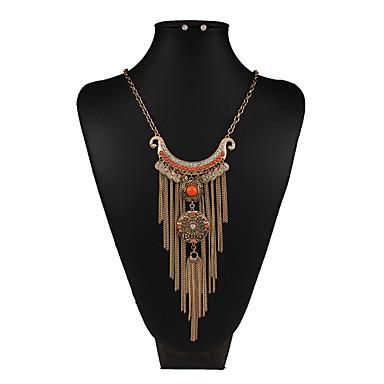 Mujer Conjunto de joyas - Vintage, Europeo, Moda Incluir Collar / pendientes Dorado / Plata Para Boda / Fiesta / Diario / Pendientes / Collare