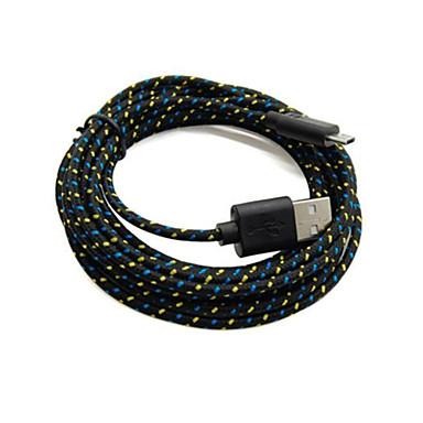 Stary rekin ™ 2 opakowania 2m 6ft Micro USB ładowania i synchronizacji danych kabel pleciony przewód tkaniny tkane na samsung czarny