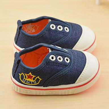 Unisexo Sapatos Lona Outono Tênis Caminhada para Bebê Azul Escuro / Vermelho / Azul Claro