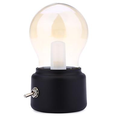 retro 10w geleid usb oplaadbare globe gloeilamp warm wit tafellamp (zwart&goud) DC5V