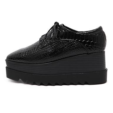 Evénement Lacet amp; Femme Polyuréthane à Soirée Noir Creepers Plateau 05244618 Talons Chaussures Automne Chaussures Printemps 7HqxO7zF