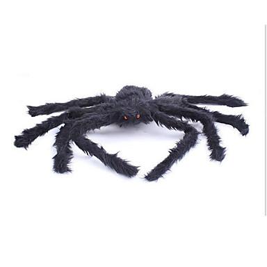 Edderkopper Halloween Utstyr Herre Dame Halloween Festival / høytid Drakter Svart Ensfarget