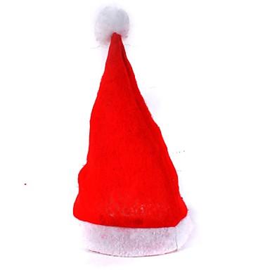 adulto vermelho os chapéus comuns Natal chapéus de Santa chapéus do Natal cap crianças
