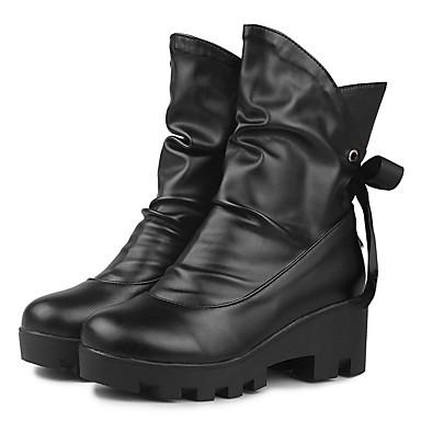 Hæle-Syntetisk laklæder Kunstlæder-Plateau Arbejde og sikkerhed Combat-støvler Originale Cowboystøvler Snowboots Ankelstøvler Ridestøvler