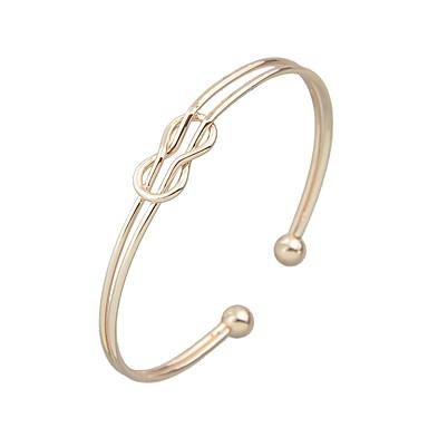 Dames Cuff armbanden Modieus Legering Cirkelvorm Zilver Goud/Roze Sieraden Voor Feest Dagelijks Kerstcadeaus 1 stuks