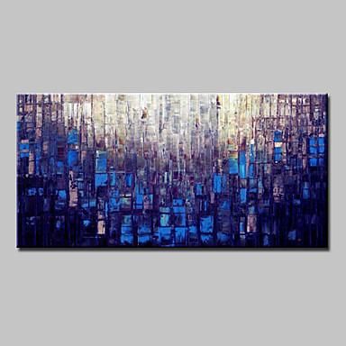 Hang-Ölgemälde Handgemalte - Abstrakt Modern Mit der Fassung / Gestreckte Leinwand