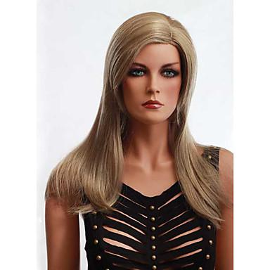 cor loiro reta europeu sem tampa perucas sintéticas para as mulheres afro