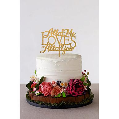 Decorações de Bolo Tema Clássico Casal Clássico Acrílico Casamento com Flor 1 pcs Caixa de Ofertas
