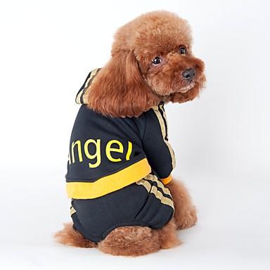 Katze / Hund Kapuzenshirts / Overall / Trikot Hundekleidung Streifen Schwarz / Rosa Baumwolle Kostüm Für Haustiere Herrn / Damen Urlaub / Sport