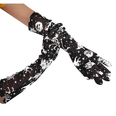 Handsker Troldmand/Heks Festival/Højtider Halloween Kostumer Gylden / Sort/Hvid Trykt mønster Handsker Halloween Unisex Terylene