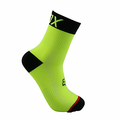 cheap Cycling Shoes-Compression Socks Sport Socks / Athletic Socks Crew Socks Cycling Socks Men's Football / Soccer Cycling / Bike Bike / Cycling Breathable Wearable 1 Pair Winter Solid Color Chinlon Orange Green Blue