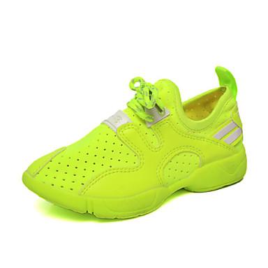 Jongens Platte schoenen Comfortabel PU Lente Herfst Causaal Wandelen Comfortabel Platte hak Wit Licht Groen Plat