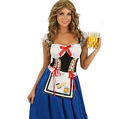 Bavarian Oktoberfest Fantasias de Cosplay Festa a Fantasia Mulheres Dia Das Bruxas Oktoberfest Festival / Celebração Trajes da Noite das