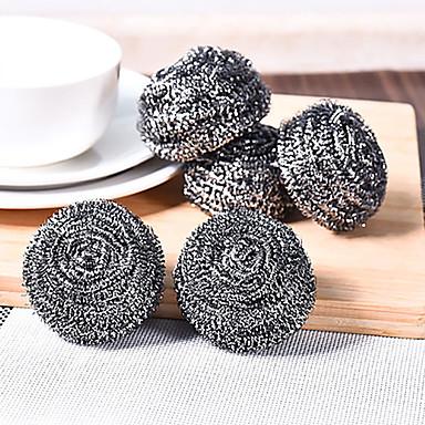 conjunto de bola de arame de aço lã 4 de aço lutando cozinha manchas mais difíceis